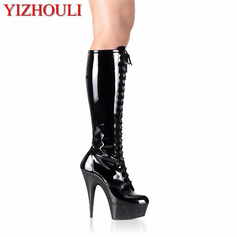 4e14bb58583 Cool Patent Stylish 15cm Platforms High Heel Shoes