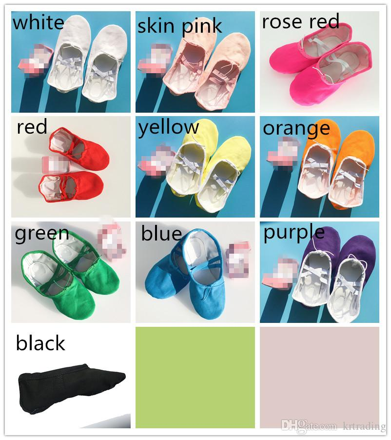 Kids soft sole ballet pumps toe shoes boys girls practice ballet dancing shoes cloth dancing shoes for baby kids juniors adults 3-16T