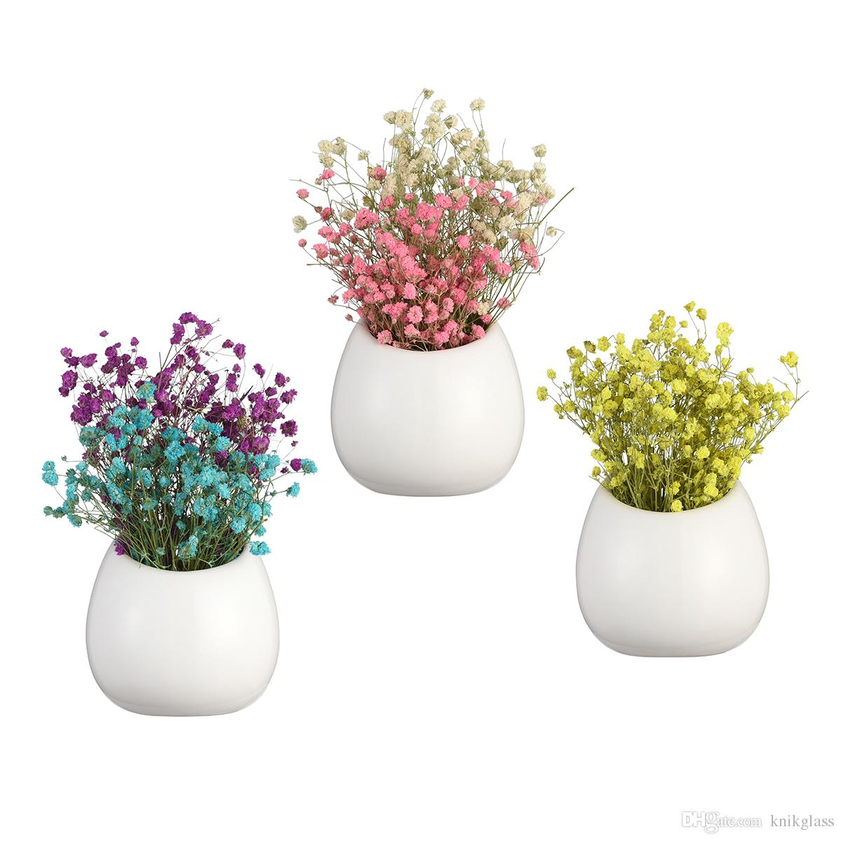 Glass wall vase wholesale online glass wall vase wholesale for sale pack of 3 white pots ceramic wall vase wall hanging air plant succulent planters holders art wall garden decor reviewsmspy
