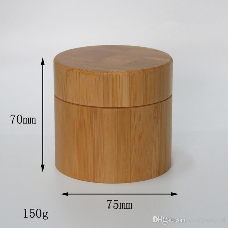 100g 150g 10 teile / los bambus sahneglas innere PP körperpflege creme glas, bambus verpackung flasche schnelles verschiffen F317