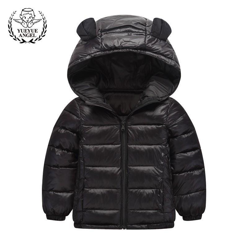 754bdf9cf8 Hot Winter Down Jacket Girl Boy Black Pink Hooded Coat Boys Girls Windproof  Childrens Parkas Warm Snowsuit Zipper Doudoune Fille Toddler Winter Coats  Sale ...