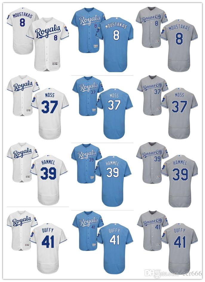 Custom Men s Women Youth KC Royals Jersey  37 Brandon Moss 41 Danny Duffy  39 Jason Hammel 8 Mike Moustakas Baseball Jerseys KC Royals Jersey 39 Jason  Hammel ... faabf03cb