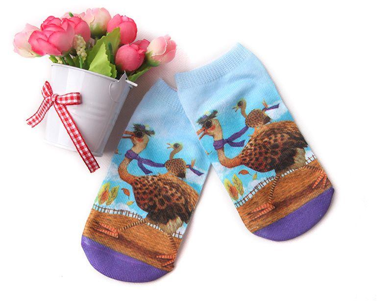 1-10 years kids Low Cut Short Socks 3D Printed Animal Cat Anklet Hosiery Ladies Short Socks Art Picture Girls Socks