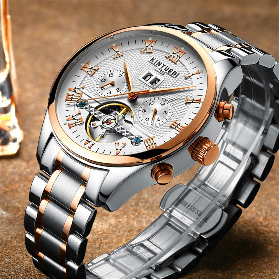3a729f2902d00 Satın Al KINYUED İskelet Otomatik İzle Erkekler Su Geçirmez Uçan Mekanik  Saatler Mens Öz Sarma Horloges Mannen Dropship, $58.88   DHgate.Com'da