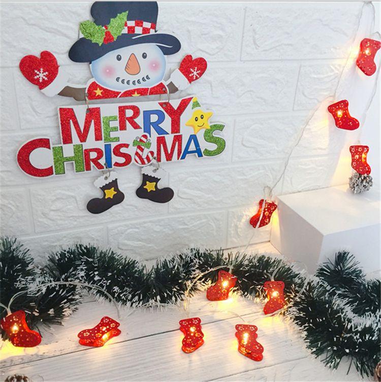 f4e187c6679 Compre Navidad 2M 10 LED Strings Luces Caja De La Batería Operado Santa  Claus Elk Muñeco De Nieve Alambre Luz Navidad Tienda De Decoración Del  Jardín ...