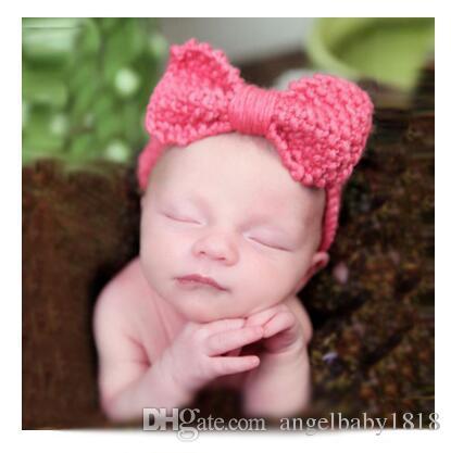 Haarbänder Kinder Baby Mädchen Prinzessin Gestrickte Elastische Foto Requisiten Stirnbänder 9 Stile Stirnband Haar Zubehör Kostenloser Versand