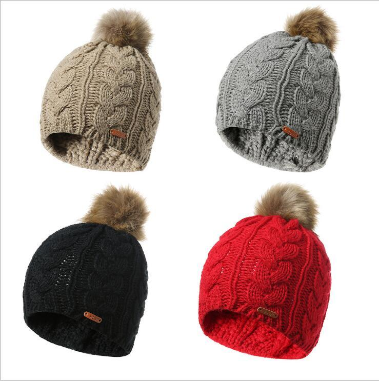 ab78b4df9c079 2019 Hot Sale Baby Beanie Hat For Boys Girls Cap Cotton Knitted Hair Ball  Autumn Winter Warm Children Hats Ourtwear Caps From Qingfengxu