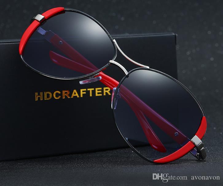 17988f691444 Free Box Lady Eyewear Big Frame Shade Goggle Driving Eyeglass Fashion  Polarized Sunglasses Brand Designer Women Frog Mirror Sun Glasses A327  Eyeglass ...