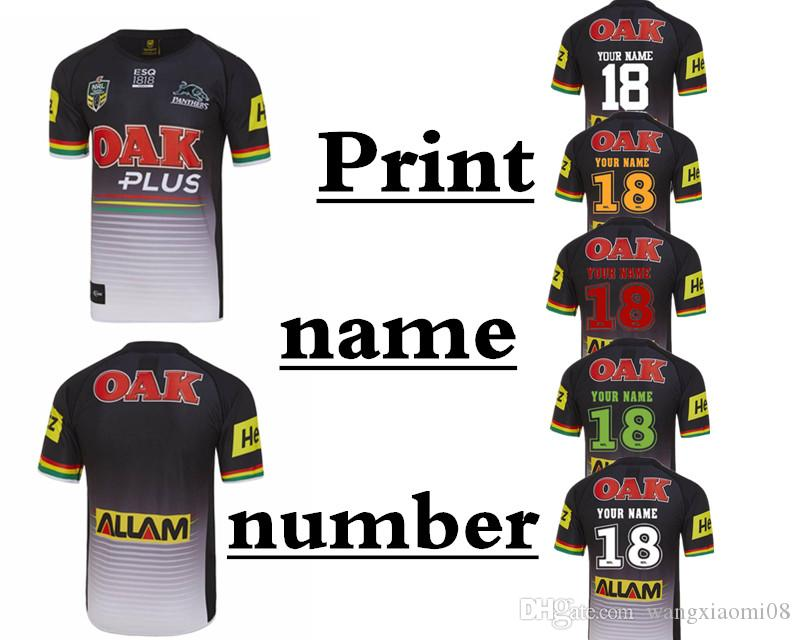 2019 2018 PENRITH PANTHERS HOME JERSEY 2018 2019 NRL National Penrith  Panthers Rugby PENRITH PANTHERS 2018 HOME JERSEY Size S 3XL Can Print From  ... ac858aa3f