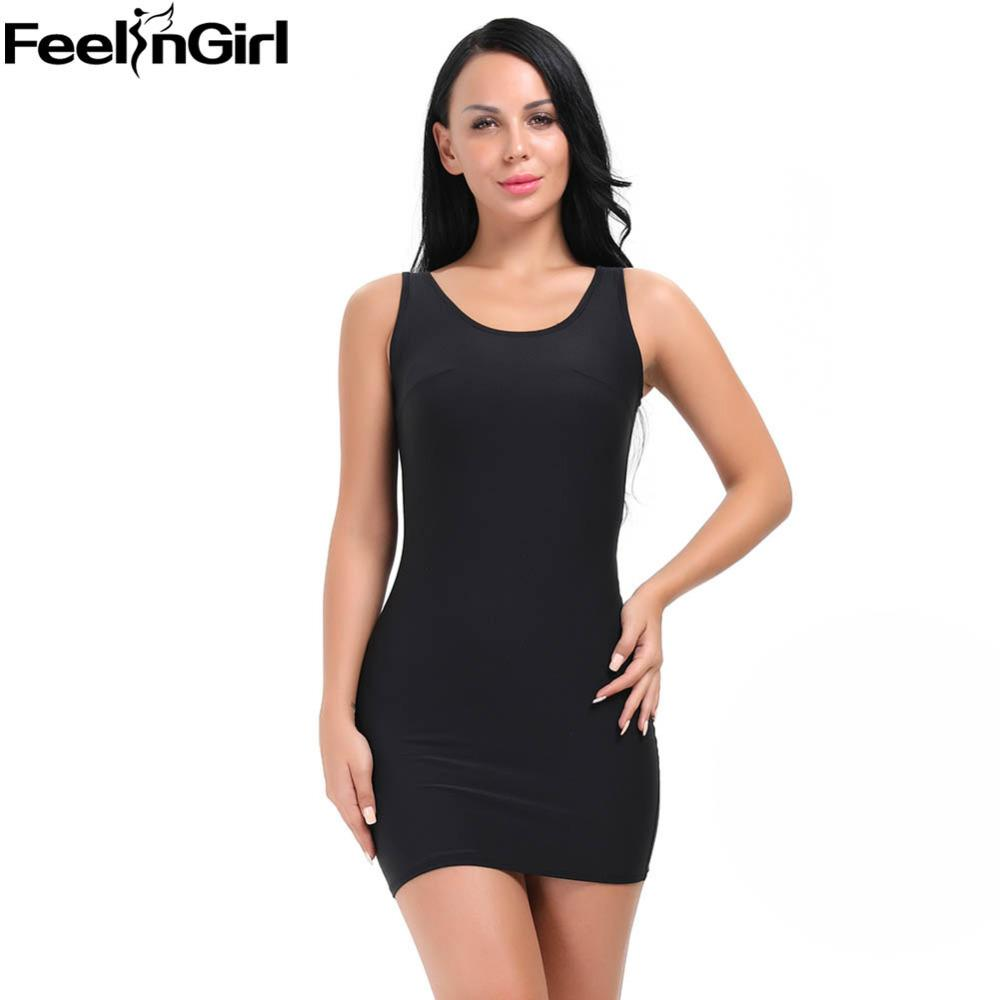 904fa6415477a 2019 FeelinGirl Firm Control Slips Bodysuit Women Tank Body Shaper ...