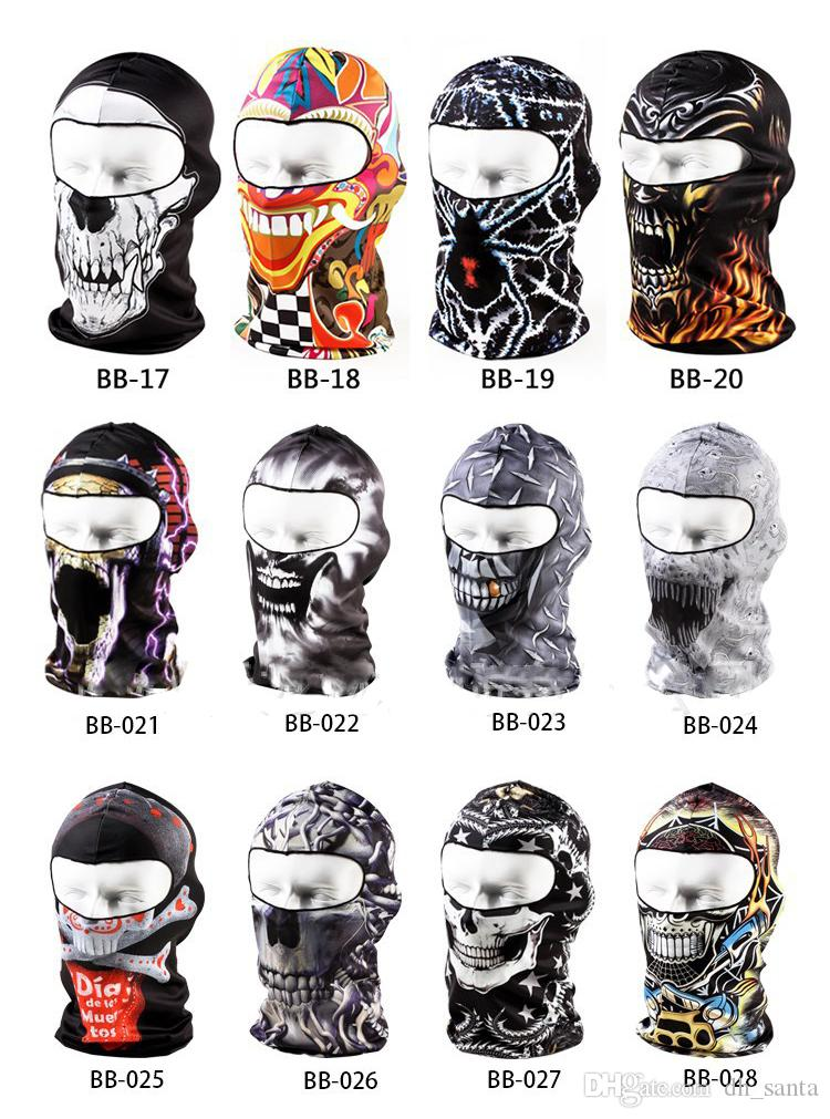 Face Mask AAAA+Quality Bandanas Ghosts Mask Outdoor Hat Cycling Bike Motorcycle Windproof Mask Elastic DHL Fast shipping BB+