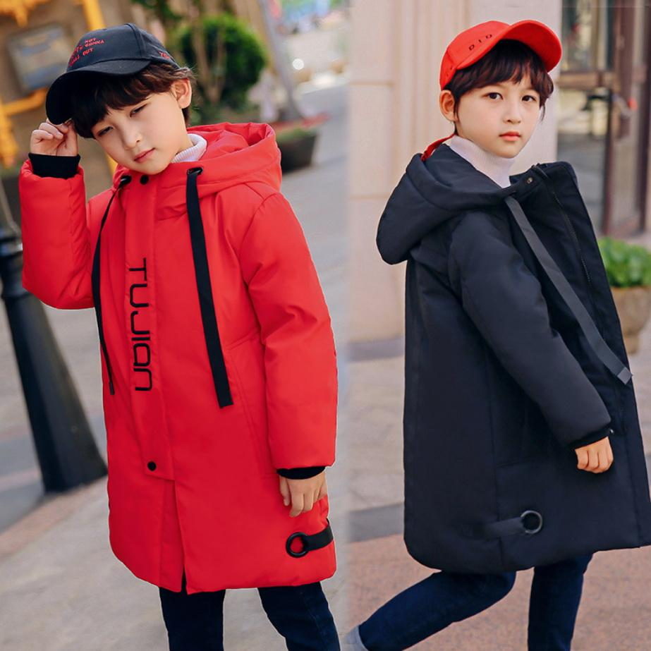 53b6dea0 Kids Jacket Winter Warm Coat For Boy Children Outwear Korean Clothes Teens  Duck Down Parka Windproof Long Coats Boys 7 8 10 Year Girls Black Coat  Toddler ...