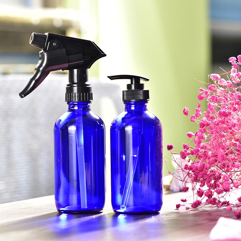2 Types 240ML Clear Glass Essential Oil Reusable Storage Bottles Spray Bottle Lotion Shampoo Container EDC Travel Tools