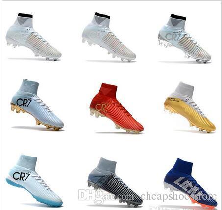 d341030bad0ef9 Acquista 2017 Scarpe Da Calcio Bambini Mercurial CR7 Superfly V FG Scarpe  Da Calcio Ragazzi Scarpe Da Calcio Giovani Cristiano Ronaldo Scarpe Magista  Obra A ...