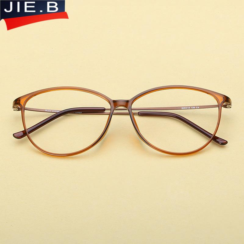 19e64e3f058 2019 Ultra Light Tungsten Plastic Steel Eyeglasses Women Cat Eye Glasses  Frame Optical Eyewear Armacao Oculos De Grau Femininos From Enchanting11