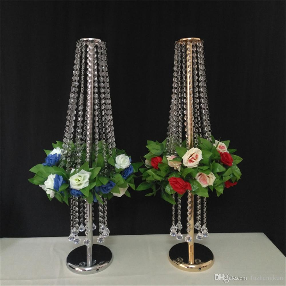 Wedding Centerpiece Flower Vase Flowers Stand Acrylic Crystal Road Lead Flower Rack Props For Event Party Decoration