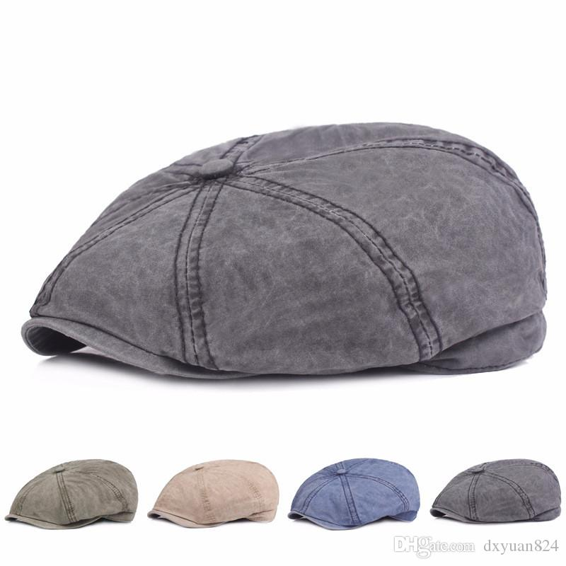 Vintage Vintage Newsboy Hat Eight Quarter Cap Beret Ladies Girls Women Men  Twill Cotton Flat Cap Spring Summer UK 2019 From Dxyuan824 b7612276158