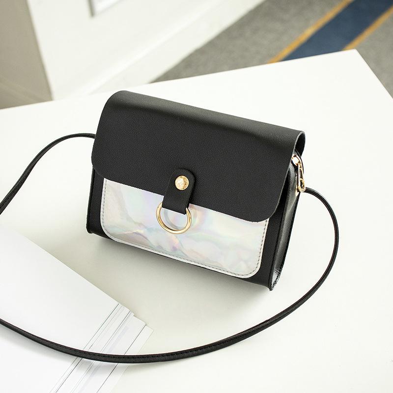 WKKGO Lady Handbag Mini Multi Color Patchwork Bag Satchel Pack Women Shopping Travel Coin Purse Shoulder Messenger Crossbody Bag