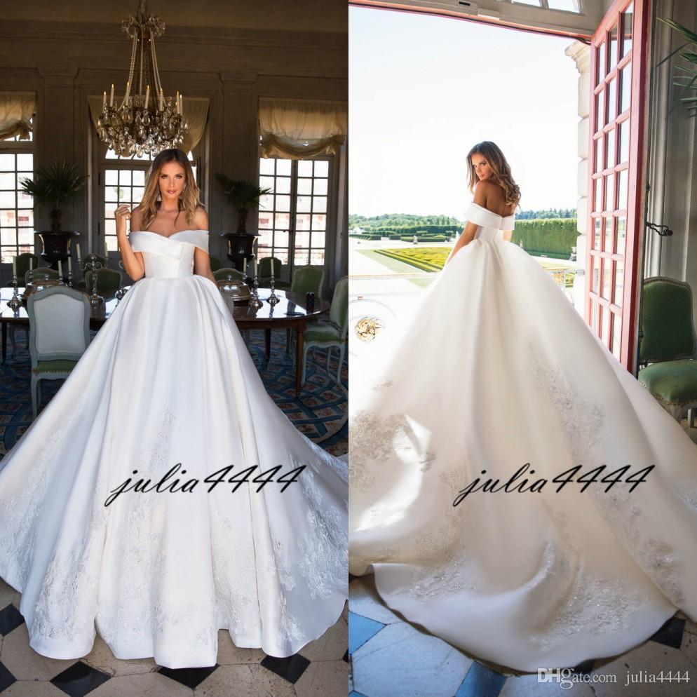 Discount Milla Nova 2019 Wedding Dresses A Line Bridal
