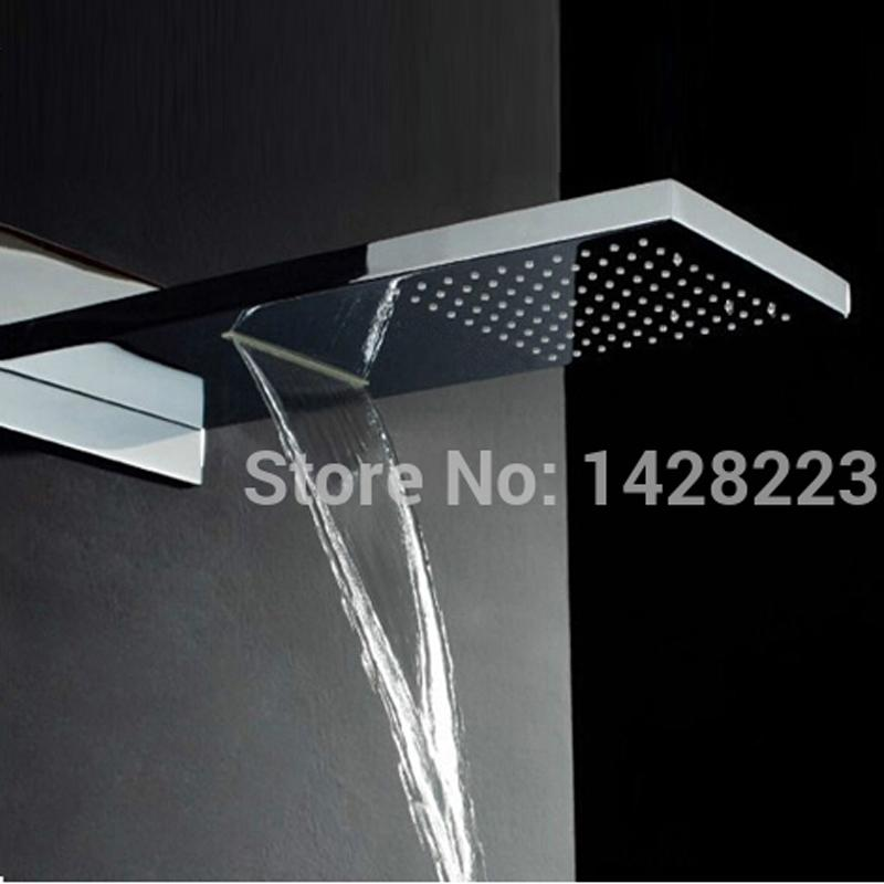 2019 Luxury Dual Functions Waterfall Shower Head Polished Chrome Brass Big  Rainfall Shower Head Chrome Finished From Industrial, $247.44   DHgate.Com