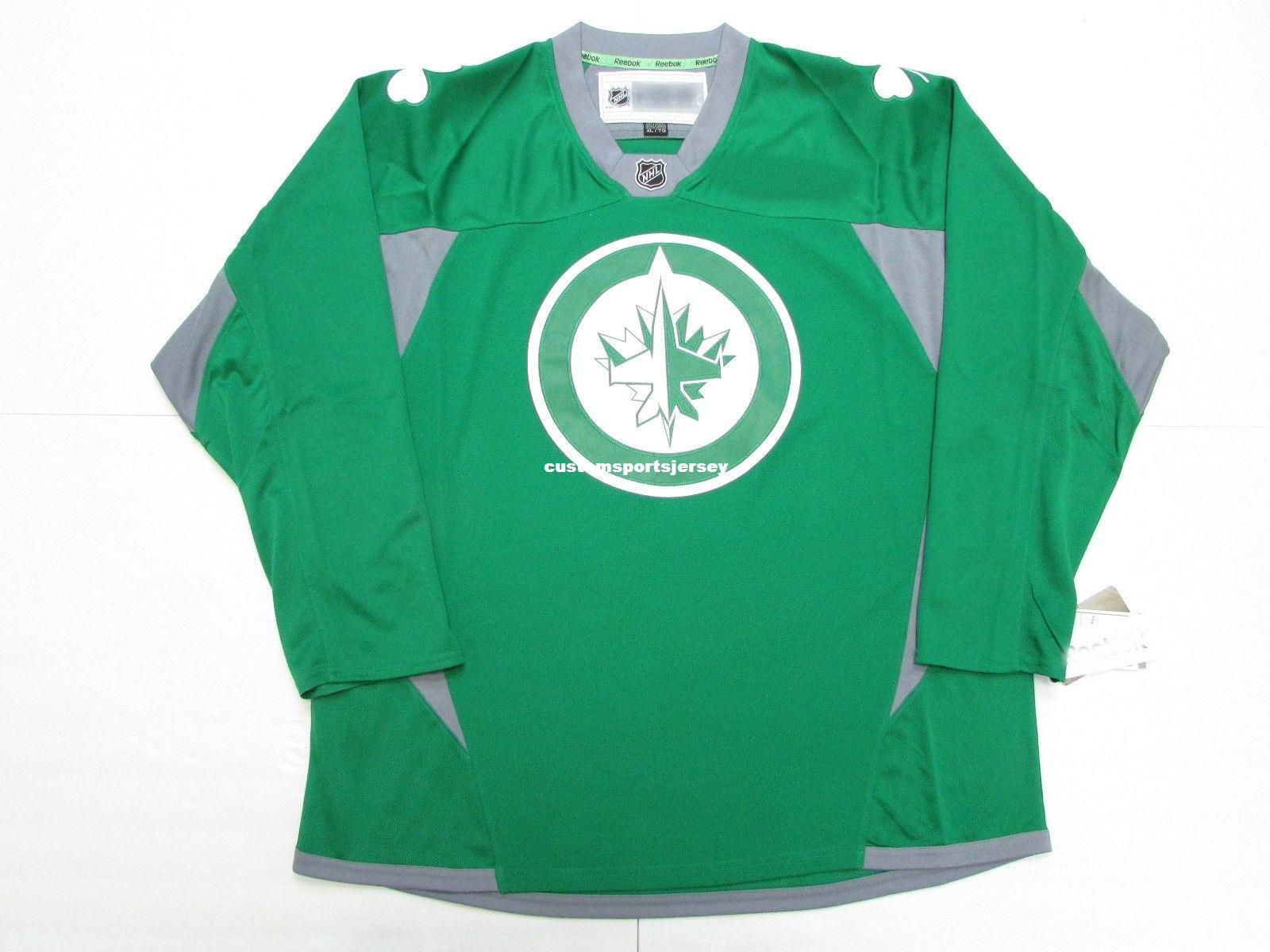 2019 Cheap Custom WINNIPEG JETS ST. PATRICK S DAY GREEN PRACTICE HOCKEY  JERSEY Stitch Add Any Number Any Name Mens Hockey Jersey XS 5XL From ... 1d3a1b54e