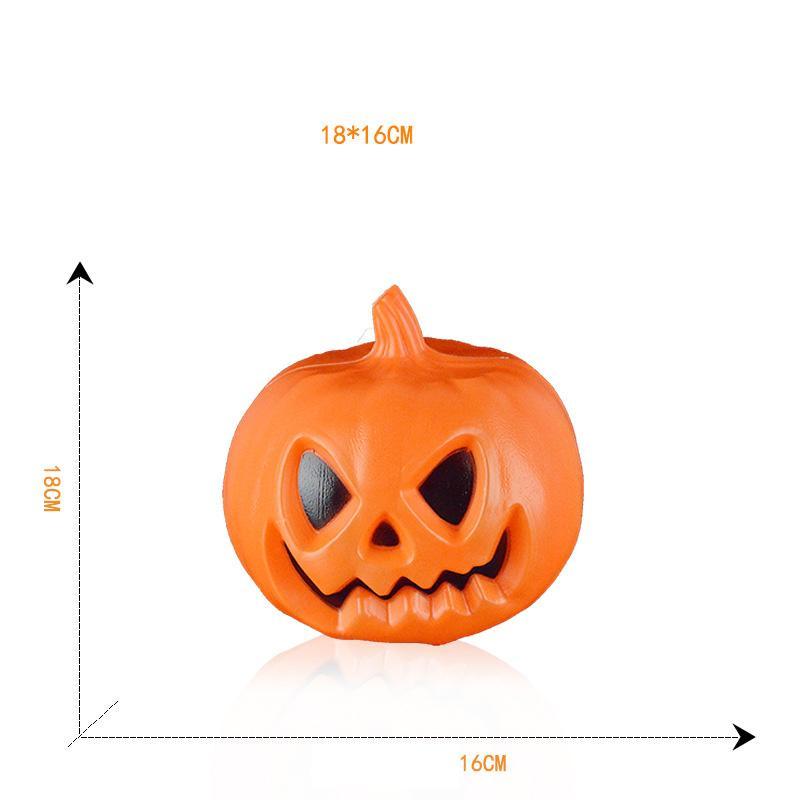 69fbea4665f 2019 Halloween Color Glow Ghost Evil Pumpkin Ornaments Voice Activated  Pumpkin Props Scene Decoration Pumpkin Halloween Decoration From  Haolingame