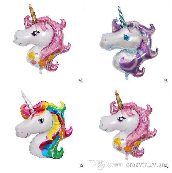 Unicorn Foil Balloons Party Animal Helium Ballons Globos Inflatable Classic Toys Birthday Decorations Kids Party Supplies Balloon Big size