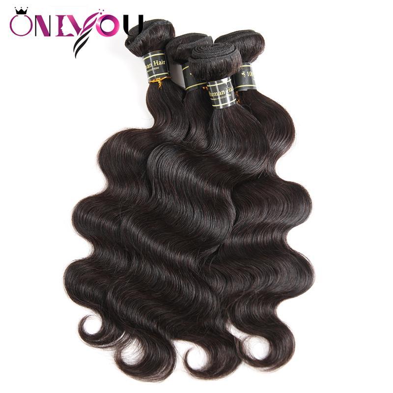 Горячая бразильская волна тела Virgin Pail Bundle Dials Remy Extensions человеческих волос 4/5/6 Mix Заказать Тело плетение человеческих волос Плетение пучек