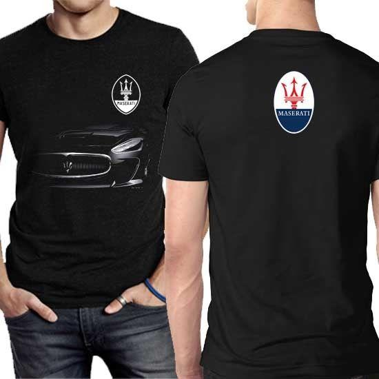 d481cde6905 Maserati Car Tee Cotton New Tshirt For Mens 2 Sides T-Shirt Online ...