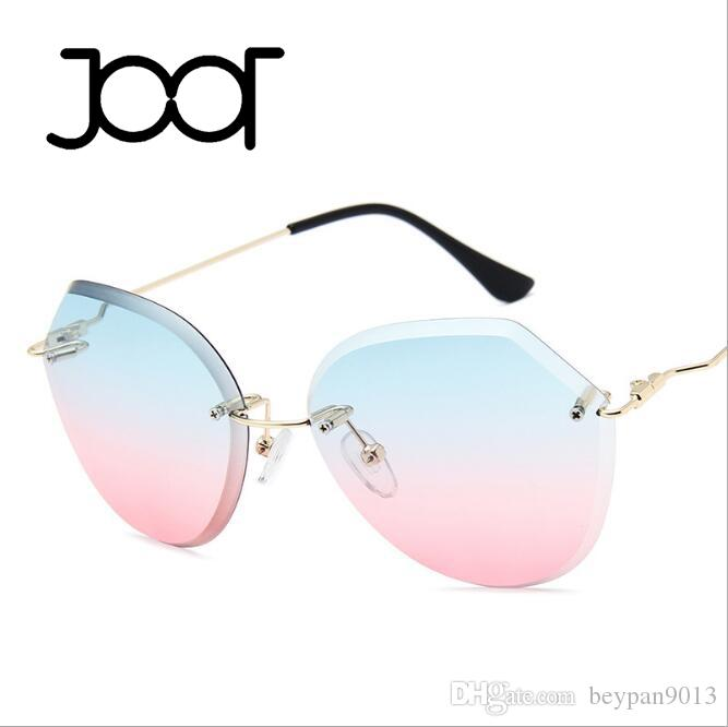84048fd6f86d 2019 2018 Fashionable Rimless Luxury Sun Glasses Cat EyeShade Lens Glasses  Men Women Sunglasses For Brand Designer Best Quality With Box From  Beypan9013, ...