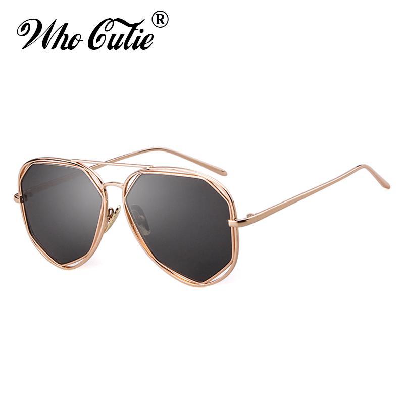 9beca6cb65d WHO CUTIE UV400 Women Pilot Sunglasses Metal Frame 2019 Brand Design  Vintage Fashion Cool Aviation Sun Glasses Pink Shades OM774 Spitfire  Sunglasses Native ...