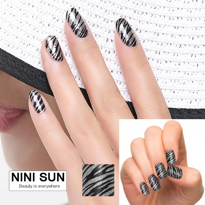 Wholesale New High Quality Sex Blacksilver Glitter Classical Nail