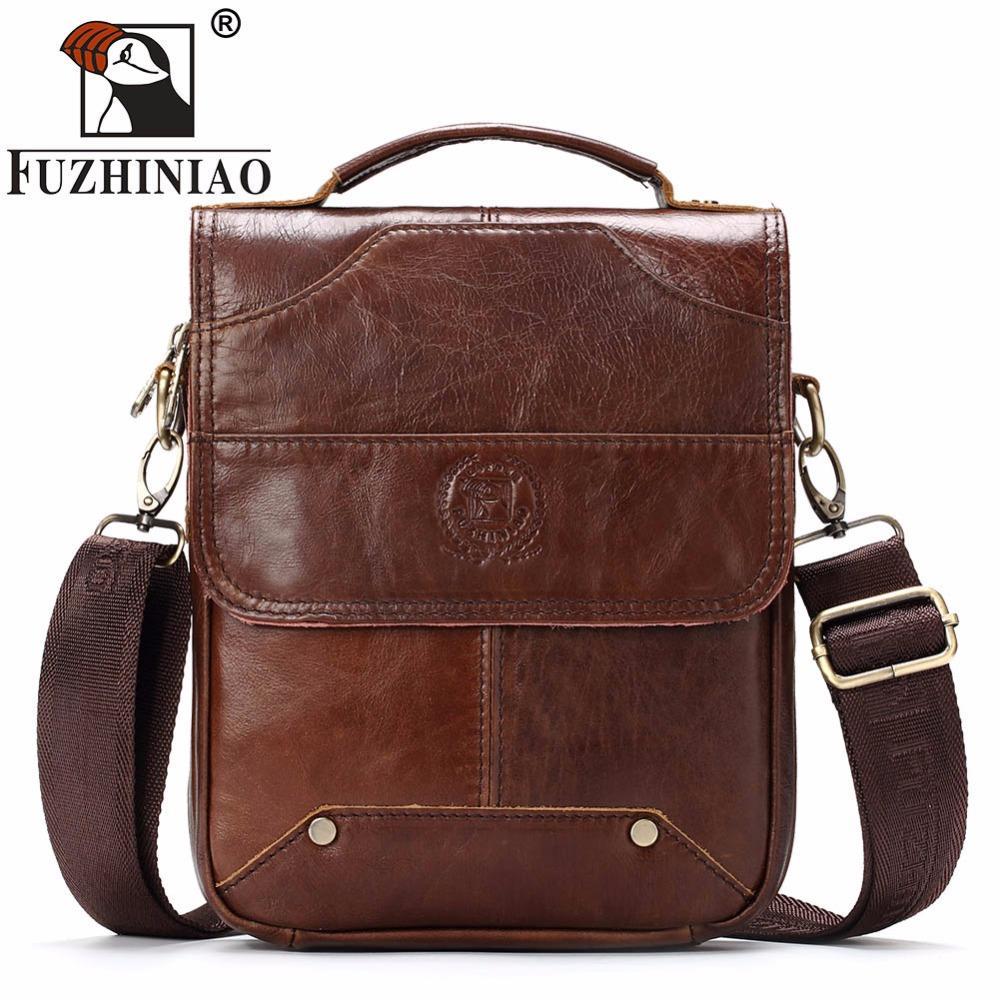 FUZHINIAO New 2018 Fashion Men Bags Men Casual Genuine Leather Messenger Bag  High Quality Man Brand Business Small Men S Handbag Fiorelli Handbags  Patricia ... 3692c68d1f6e3