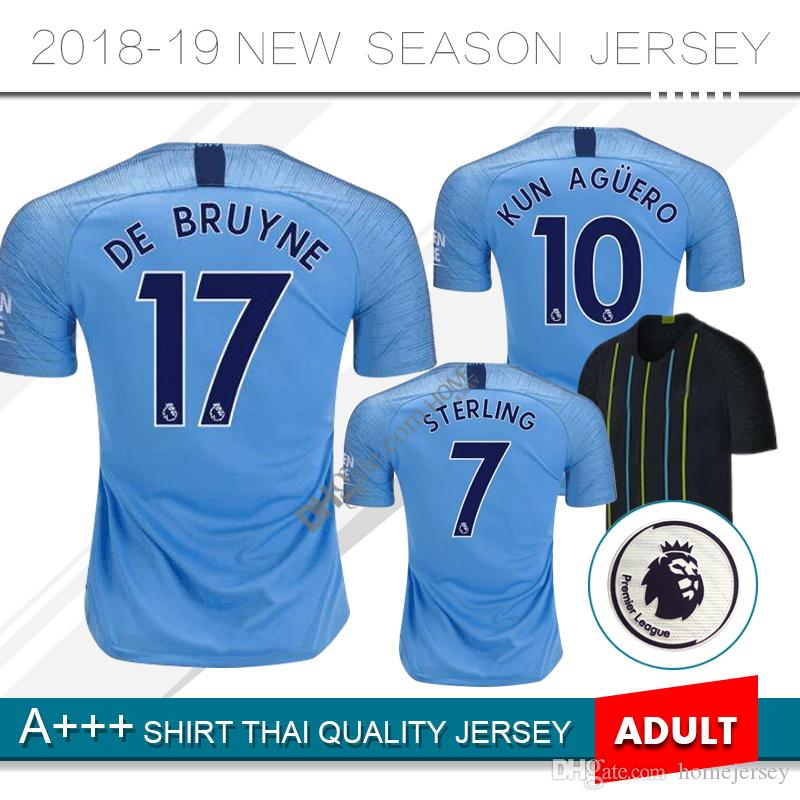 2018 Home Away Soccer Jersey 18 19  10 KUN AGUERO Football Soccer ... d2aee56fb