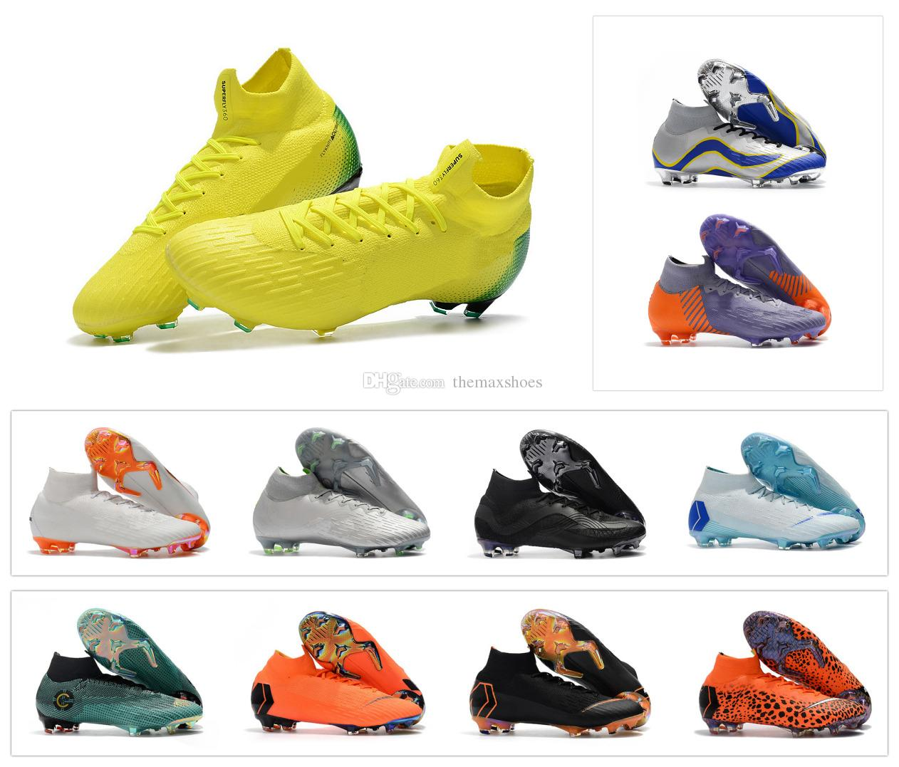 High Mens 2018 Mercurial Superfly VI 6 360 Elite FG CR7 Cristiano Ronaldo  20 YEARS OF SPEED Women Boys Soccer Football Shoes Boots US3 11 UK 2019  From ... 602e9e5076