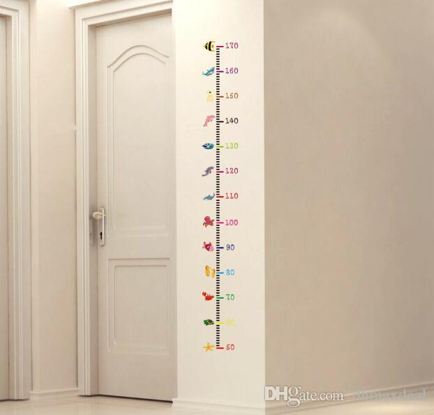 Tableau de croissance bricolage Stickers muraux pour chambres d'enfants Décorations d'intérieur Art Décalcomanies pour enfants Cadeaux pour enfants Hauteur Mesure