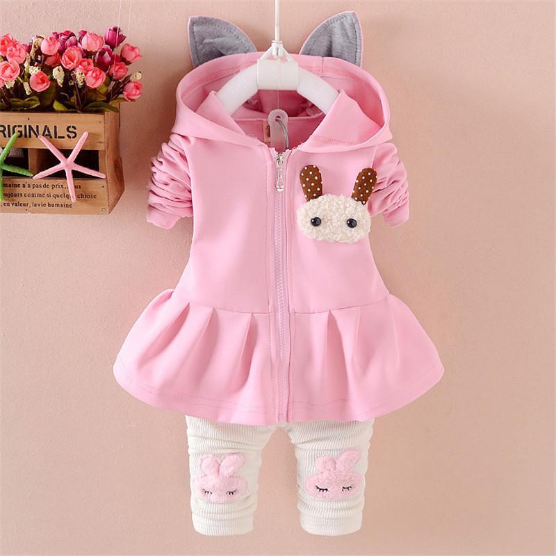 777241bad44d0 BibiCola baby girls clothing set 2018 new kids clothes suit girl caspring  autumn cotton tops coat + pants 2pcs children cute set