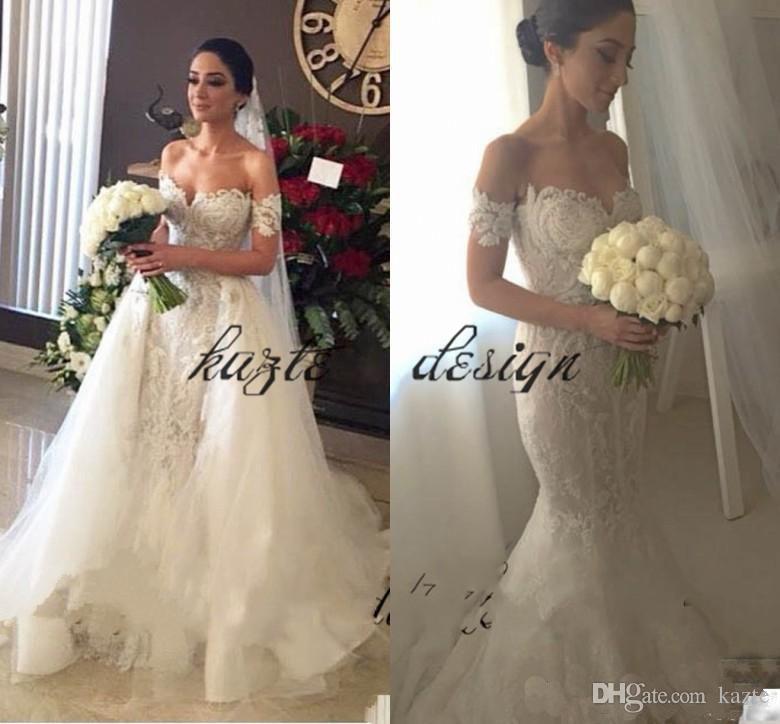 Steven Khalil Off The Shoulder Mermaid Wedding Dresses With ...