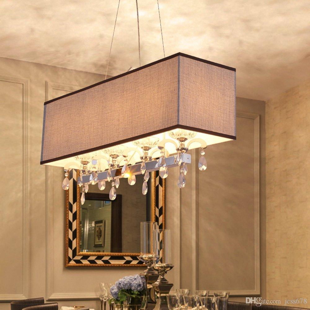 Esszimmer Hängeleuchte | Grosshandel Moderne Langliche Kristall Esszimmer Pendelleuchte Luxus
