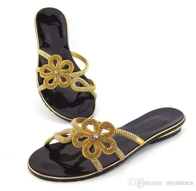 78af32a645 Compre Novo Ouro Senhoras Africanas Sapatos De Couro PU Design Italiano  Sapatos E Bolsas Possíveis Para Combinar As Mulheres Sapatos De Salto Baixo  Para A ...