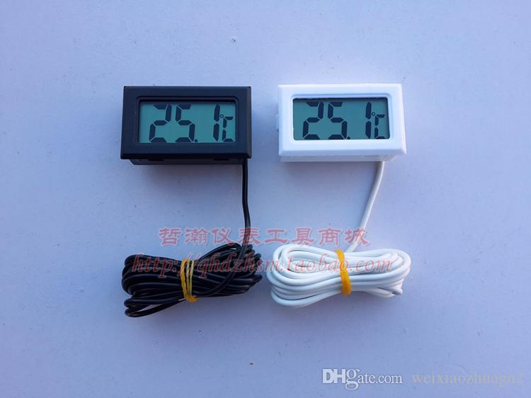 Waterproof LCD C/F Display Digital Thermometer Temperature Controller - 50 deg c to 110 deg c + 2cm Waterproof Probe