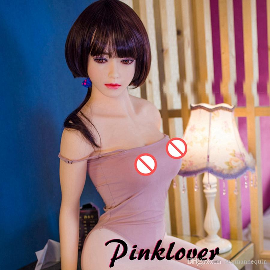 158cm Top quality real silicone sex dolls big breast oral vagina adult lifelike sexy doll for men
