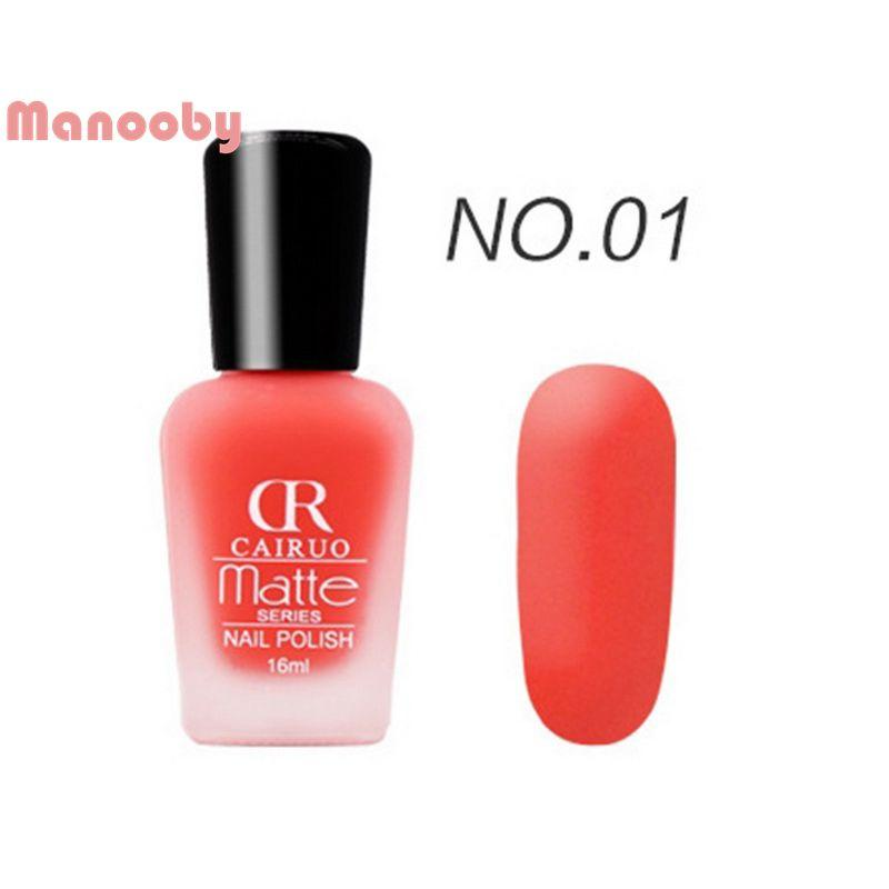 Manooby Matte Frosted Nail Polish Solid Color Nails Art Elegant ...