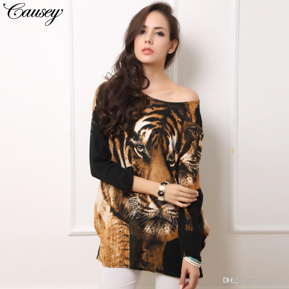 9db0526764e Plus Size Women Leopard Dresses Autumn Vestidos Lady Tiger Print Dress Mini  Big Large Size Cashmere Casual Clothing Warm Clothes Flower Summer Dresses  ...