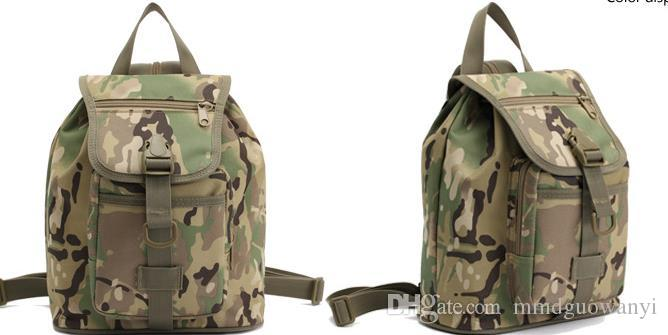 MINI Women's camouflage bag tactical multi-function outdoor camouflage backpack shoulder bag shoulder bag.