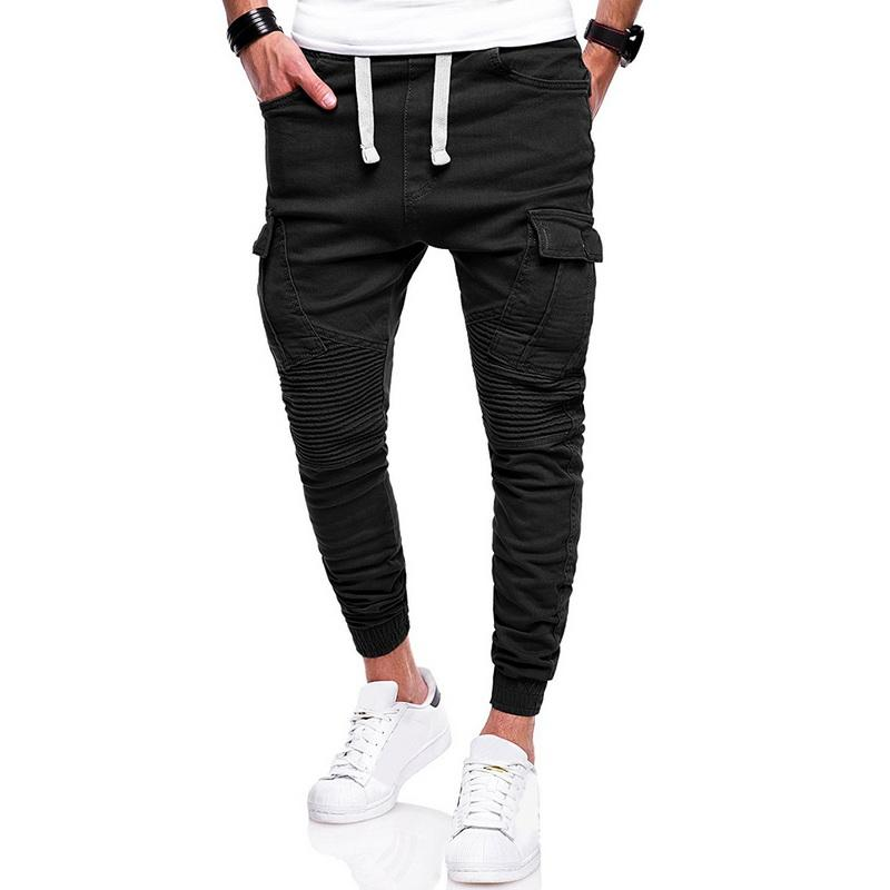 c4b537d51d383 2019 2018 Sexy Men Running Workout Pants Joggers Pants Male Pleated Pockets  Trousers Fitness Sweatpants Plus Size 3XL 4XL Sportswear From Comen