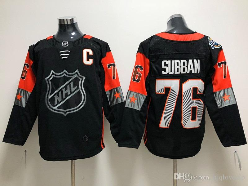 5bd7f39c742 ... 2018 new brand 76 subban black with c letter stitched ice hockey jerseys  top quality hockey