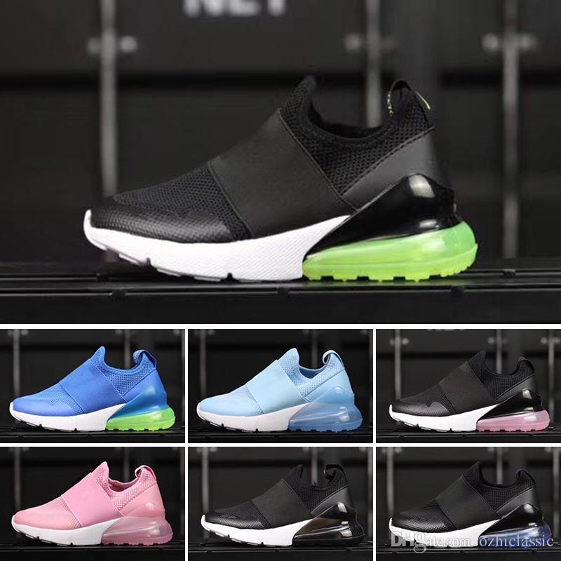 info for 81029 b7c8f Acquista Nike Air Max 27c 2018 Hot 270 OG Mesh Traspirante Scarpe Da Corsa  Bambini Originals 27C OG Mezza Palm Aircushion Shock Absorption Kids 270s  Scarpe ...