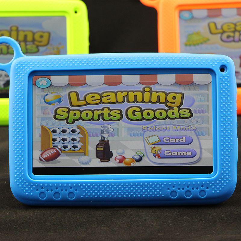 새로운 키즈 브랜드 태블릿 PC 7 인치 쿼드 코어 어린이 학습 태블릿 선물 안 드 로이드 4.4 Allwinner A33 8GB Google 플레이어 와이파이 + 큰 스피커 소매