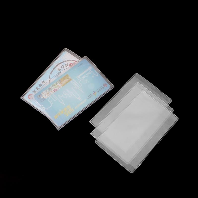 New Rectangle Clear Plastic Work Badge Credit Card Holder Protective ...
